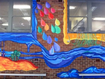 south coogee school mural, south coogee art club